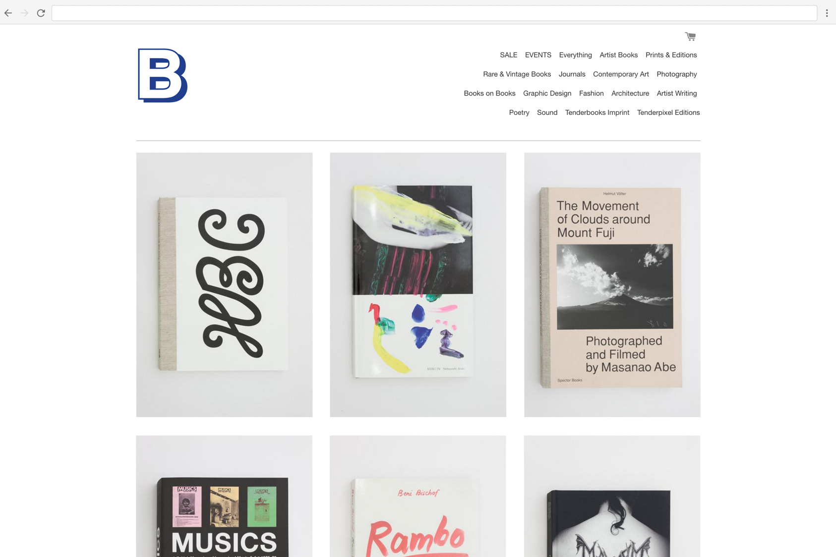 Tenderbooks Website by the agency for emerging ideas