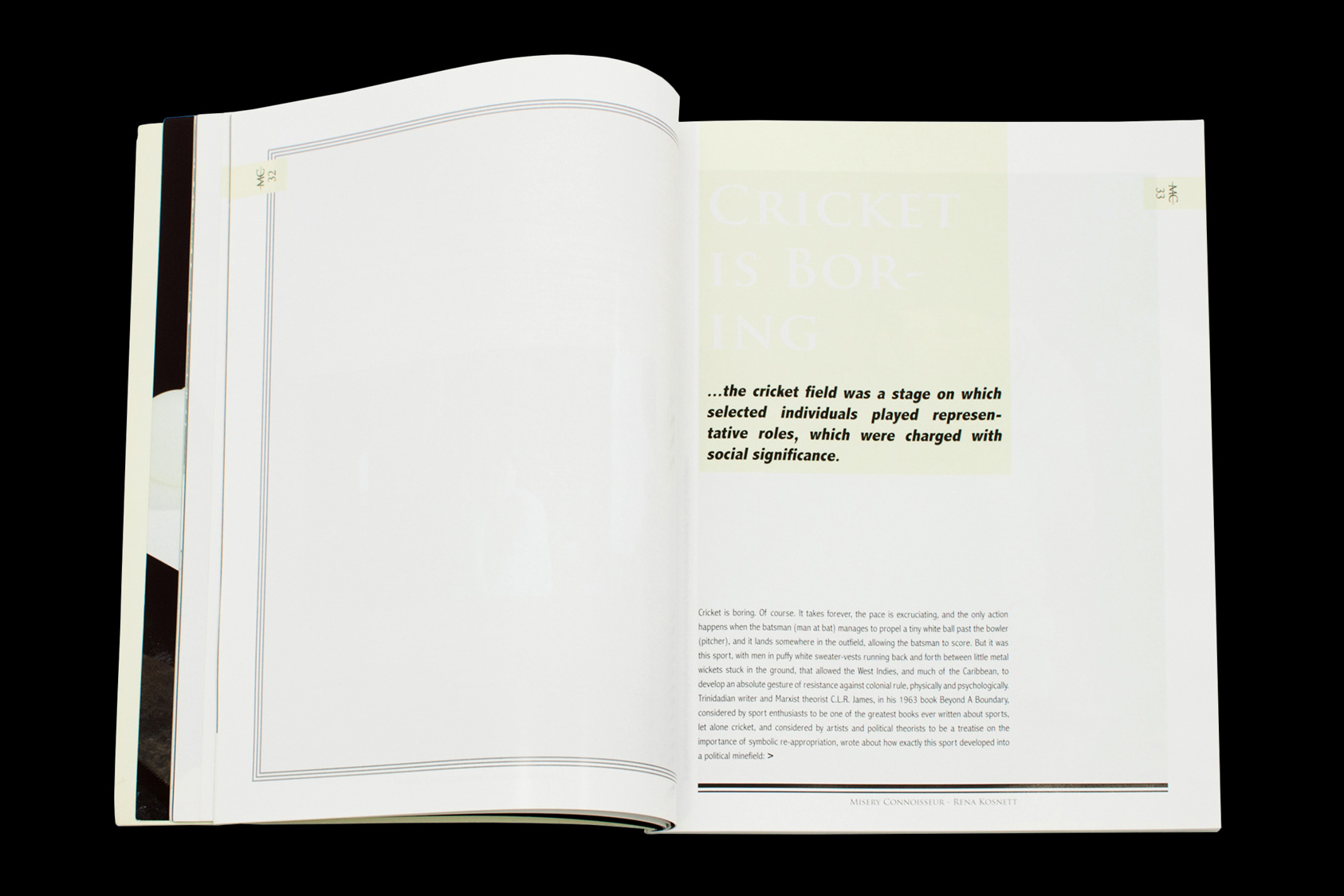 Misery Connoisseur Magazine Issue 1  by the agency for emerging ideas