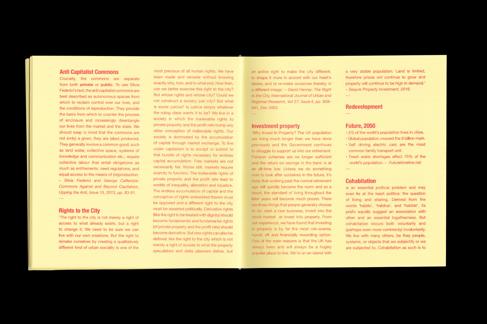 Spatial Practices and the Urban Commons - publication accompanying exhibition for Tenderpixel, 2016 by the agency for emerging ideas