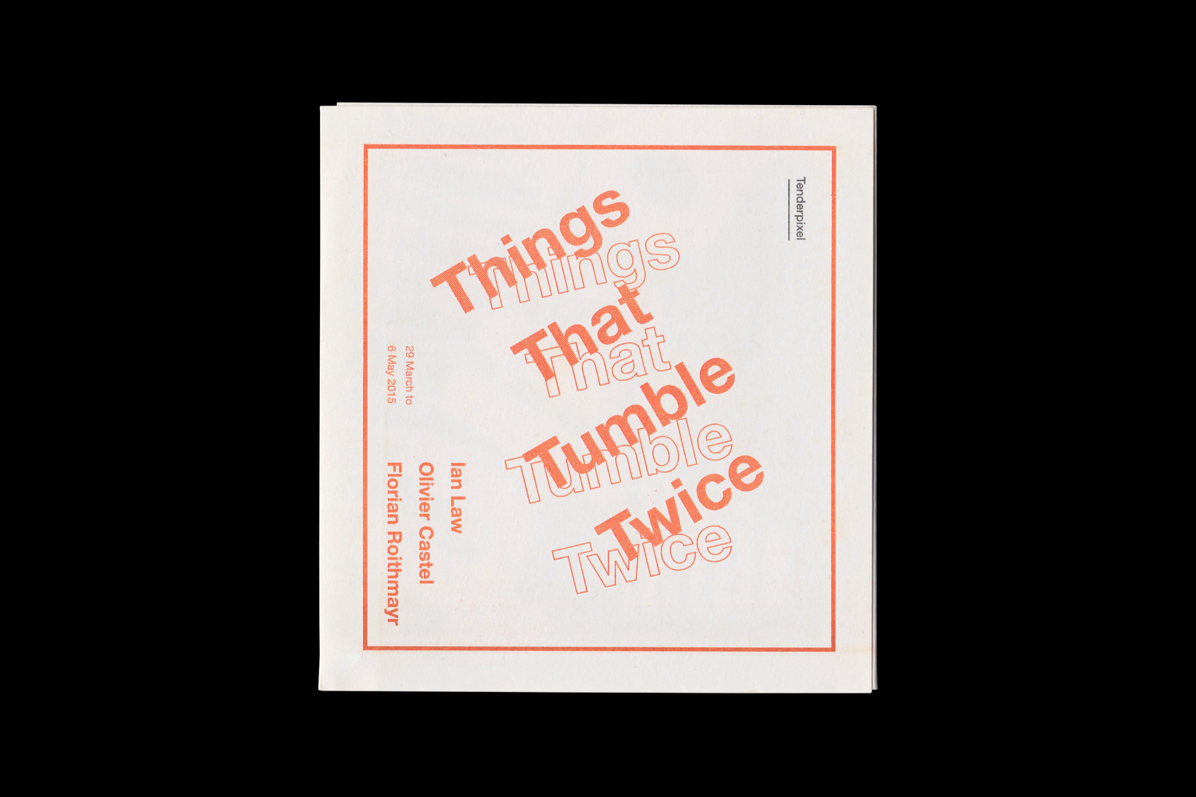 Things that tumble twice  by the agency for emerging ideas